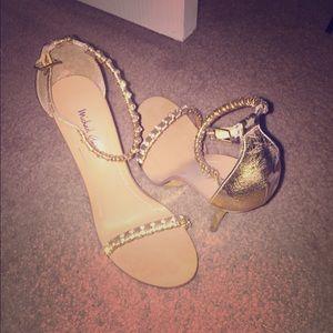 Michael Antonio Gold Sandals